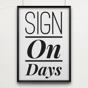sign on day picture
