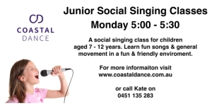 Junior Social singing